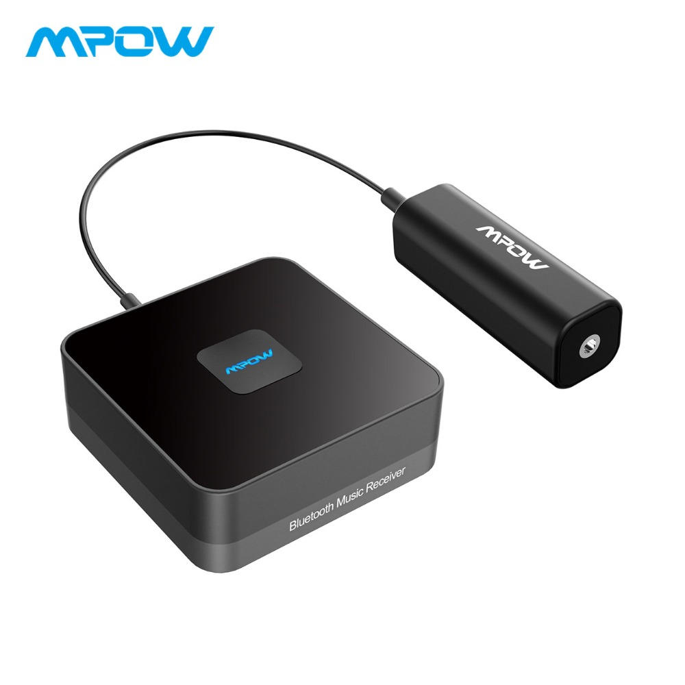 MPOW Bluetooth Music Receiver Wireless Audio Adapter With Noise Isolator High-fidelity Stereo Sound for ECHO DOT Home Car Audio vehemo ground loop noise isolator noise isolator noise filter 3 5mm audio cable abs protable eliminate noise home