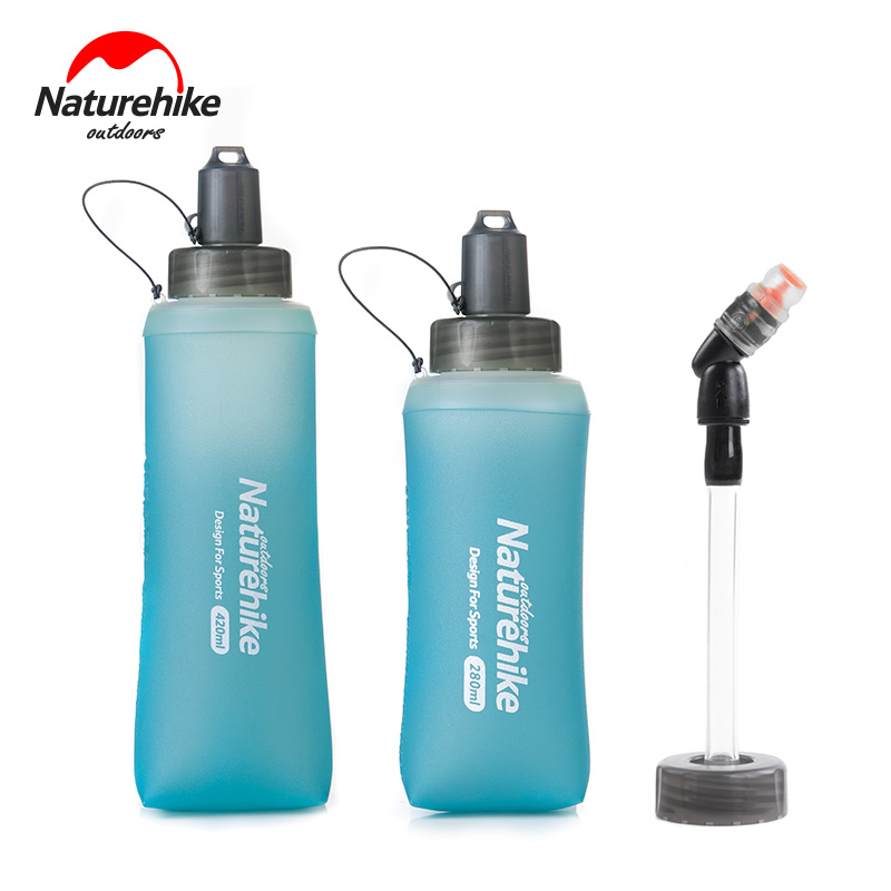Naturehike Foldable TPU Outdoor Soft Flask Water Bag Sport Camping Hiking Running Water Hydration Bottle Mouth Kettle BPA Free