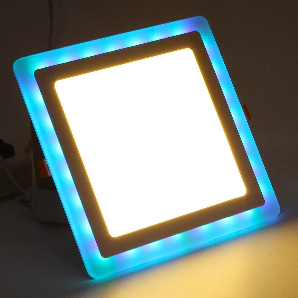 LED Downlight RGBW/RGBWW luz del Panel de acrílico 6 W 9 W 18 W 24 W Ultra fino superficie montada luz de techo AC85-265V