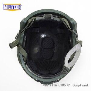 Image 5 - MILITECH balistycznych kask szybkie OD typu Deluxe robak Dial poziom NIJ IIIA 3A wysokie cięcie Twaron kuloodporne kask z 5 lat gwarancji