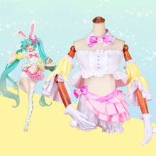 Hatsune Miku Cosplay Costumes Rabbit Ears Costume Halloween Carnival Party Women Customized