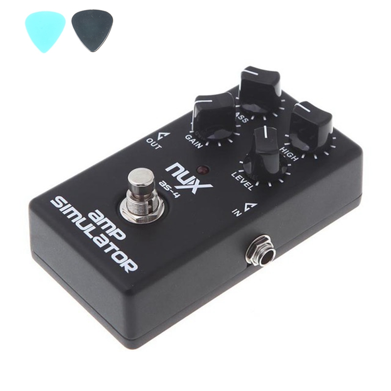 NUX AS-4 Amplifier Simulator Violao Guitar Electric Effect Pedal True Bypass Black Musical Instrument Parts Electronic 2014 New nux ds 3 classic distortion pedal high quality electric guitar effect pedal true bypass durable guitar parts