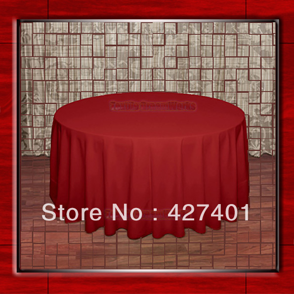 108 Bright Red 210GSM Polyester plain Table Cloth For Wedding Events & Party Decoration(Factory Direct Sales)