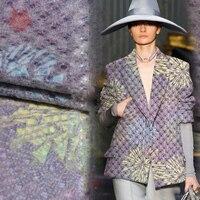 בד צמר סרוג אנגורה סגנון אמריקאי מעצב עבור חליפות מעיל פרחוני מלוכדות tela tejido לתפירה SP3803 משלוח חינם