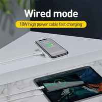 NEW! 2 in 1 PowerBank (Wired & Wireless) – 10000mAh USB PD Quick Charge 3.0 + 10W QI Wireless Charger 10