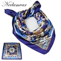 2017 Newest Design Bandana Printing SILK Scarf Women thin  Scarves Brand Scarf Woman Square Head Scarf  spring summer