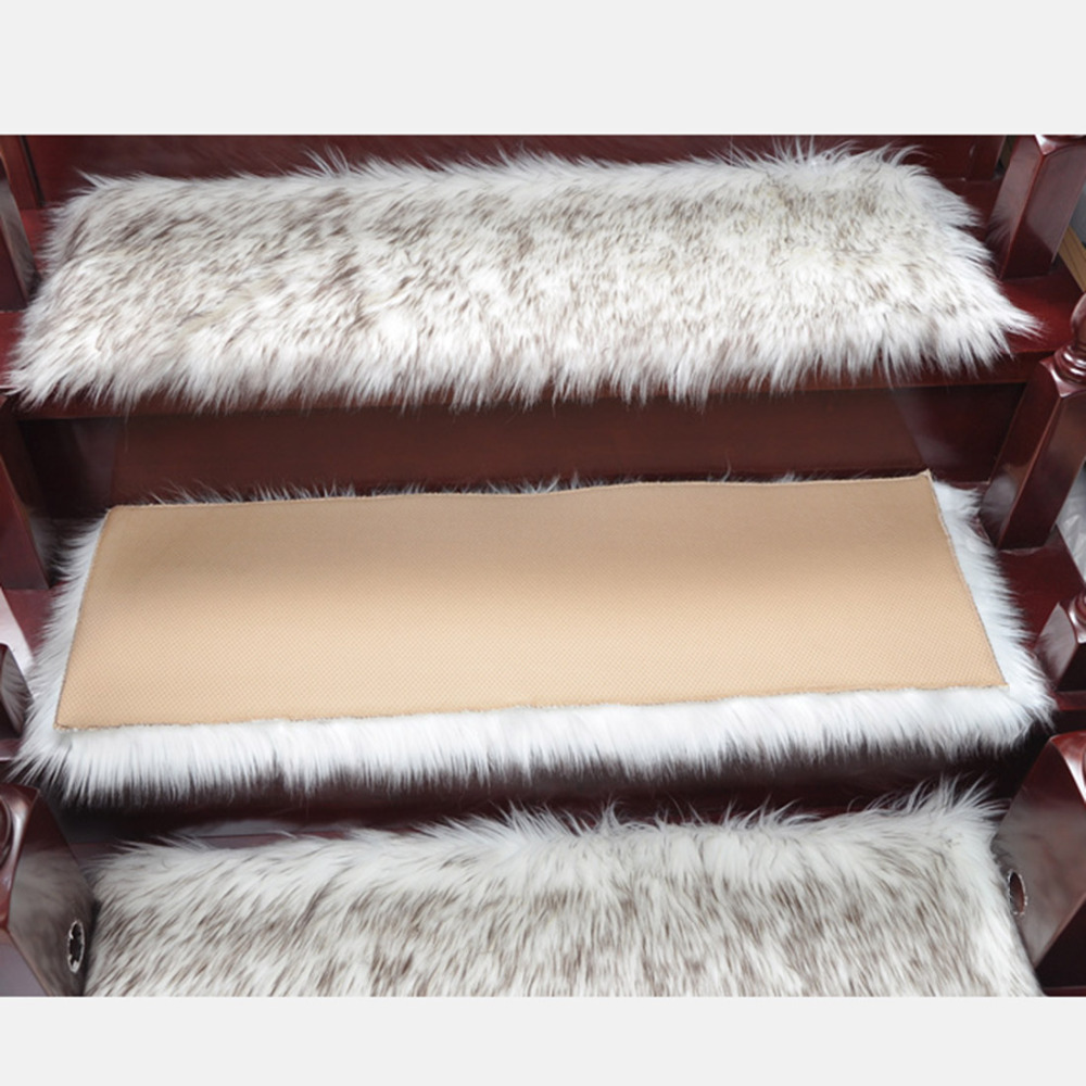 Stair Rugs Carpet Treads 1 Piece Staircase Dustproof Carpet Staircase Carpet Protector Stair Mat Pads Home Textile