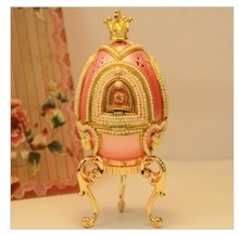 Romantic pink rotary amusement music box of Christmas gift horse egg decoration girlfriend preferred