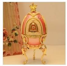 Romantic pink rotary amusement music box of Christmas gift horse egg decoration girlfriend preferred