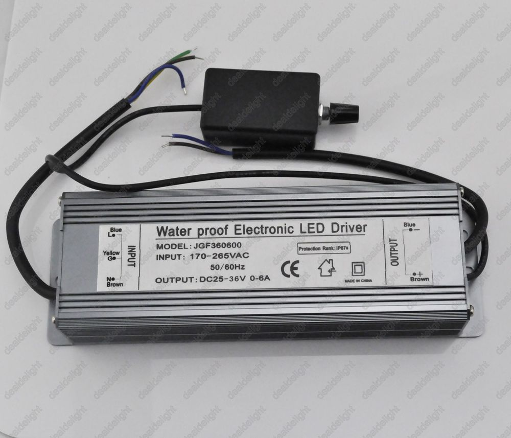 200W Dimmable Constant Current LED Driver IP67 Waterproof AC100-230V to DC25-36V 0-6A for 200W High Power LED Light ip67 waterproof 200w high power led driver 36v 5 5a constant current portable lighting transformers input 100 240vac 2 3a