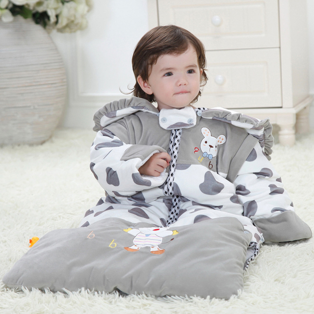 Diamond velvet baby sleeping bag cashmere flannel children baby sleeping bag children anti kick winter thick cotton baby product