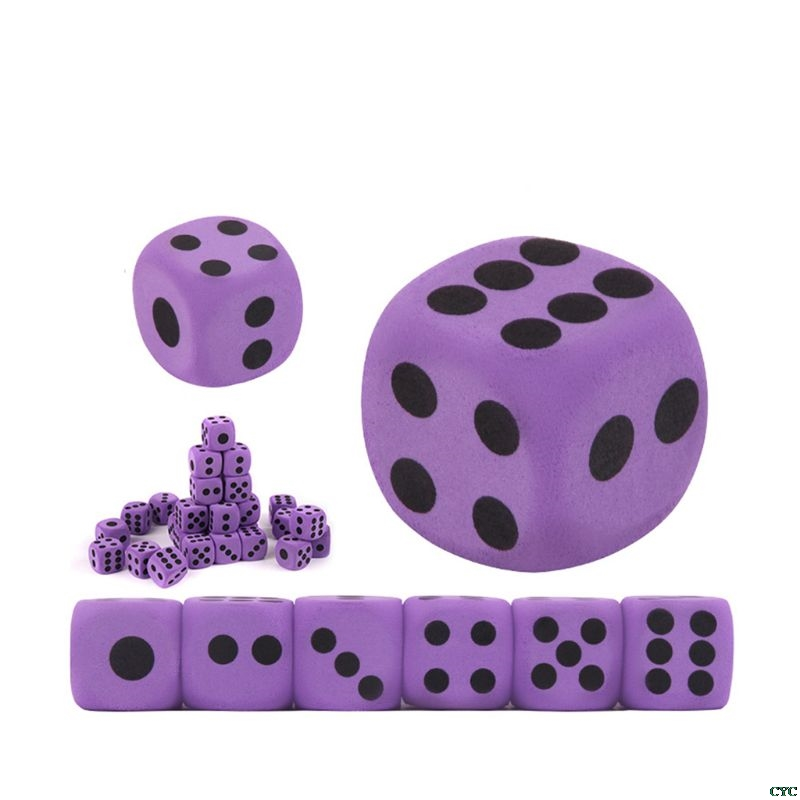 6pcs Specialty Giant EVA Foam Dice Kid Educational Toys Children Party Game Dice