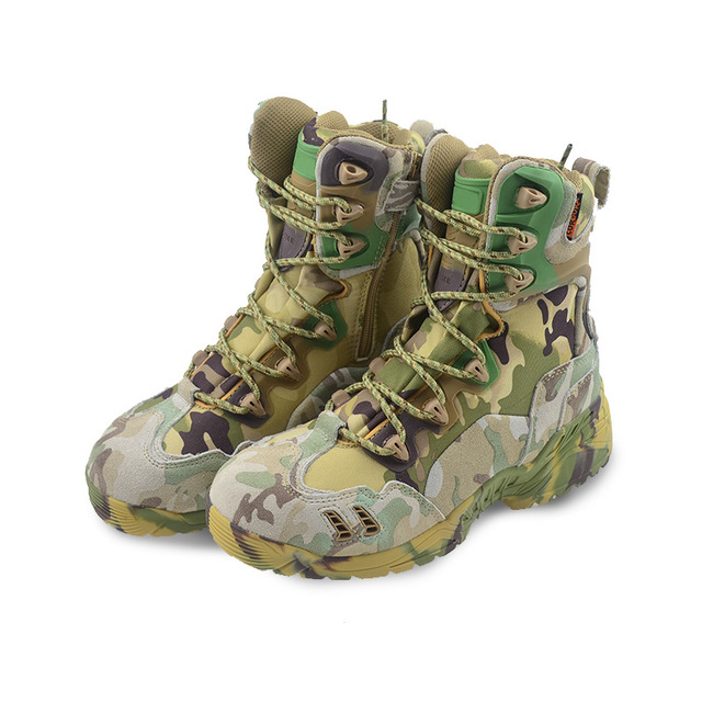 Summer Tactical Boot Army Boots Men's Military Desert Waterproof Work Safety Shoes Climbing Sport Shoes Ankle Men Hiking Boots 1