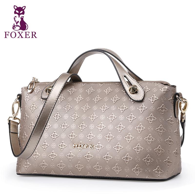 FOXER women messenger bags new 2017 woman leather shoulder bag ladies small tote brand wristlets designer handbag high quality high quality women messenger bags ladies tote shoulder bag woman brand leather handbag crossbody bag with lock designer bolsas