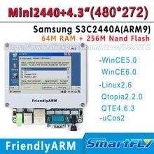 FriendlyARM Development Board kit ARM MINI2440+4.3 inch 480*272 touch screen,64M Ram+256 Flash,S3C2440 2440 ARM9 linux ucos