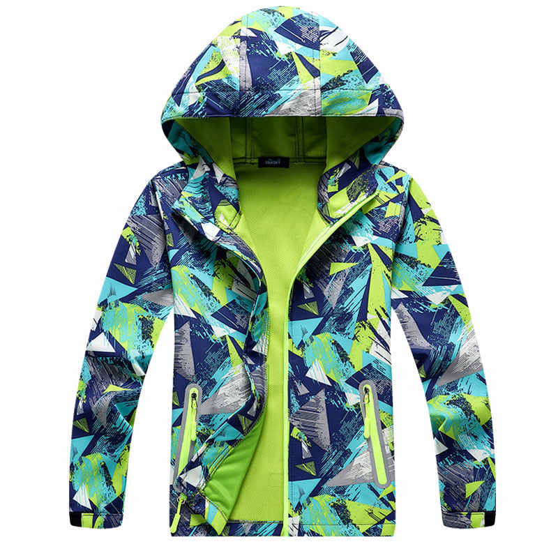 Softshel 学校ための子供 3-15Years 3D プリントファッション子供ジャケット通気性春秋の屋外洋服少年少女