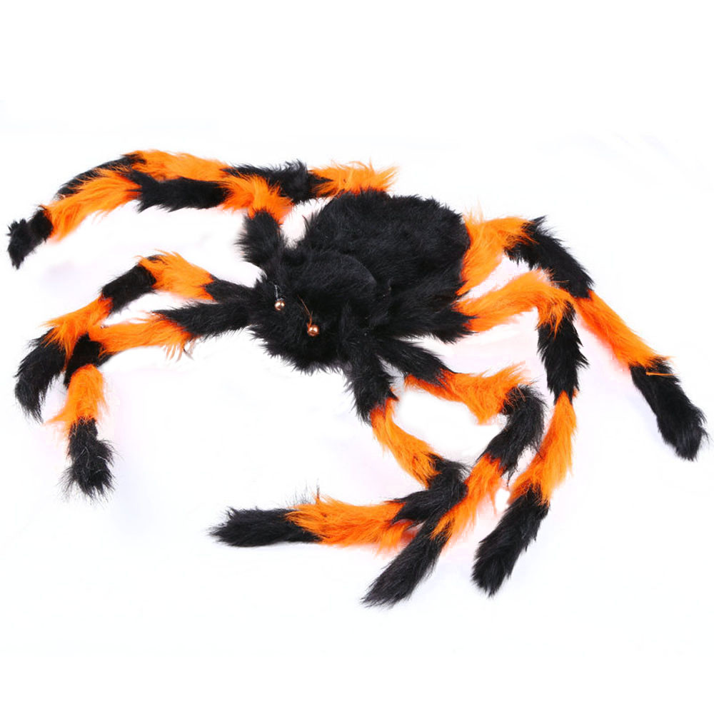 2017 horror happy halloween spider funny multicolor spider halloween party haunted house decoration prop hot sale - Halloween Spider Decoration
