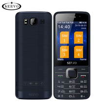 Cuatro Tarjetas SIM de 2.8 pulgadas HD de Pantalla Grande 4 tarjetas SIM 4 teléfono con Cámara Dual de espera GPRS Bluetooth vibración MP4 Ruso teclado