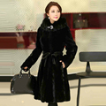 Genuine mink fur coat women real fur jacket with hood high quality fur one piece female outerwear free shipping New Phoenix