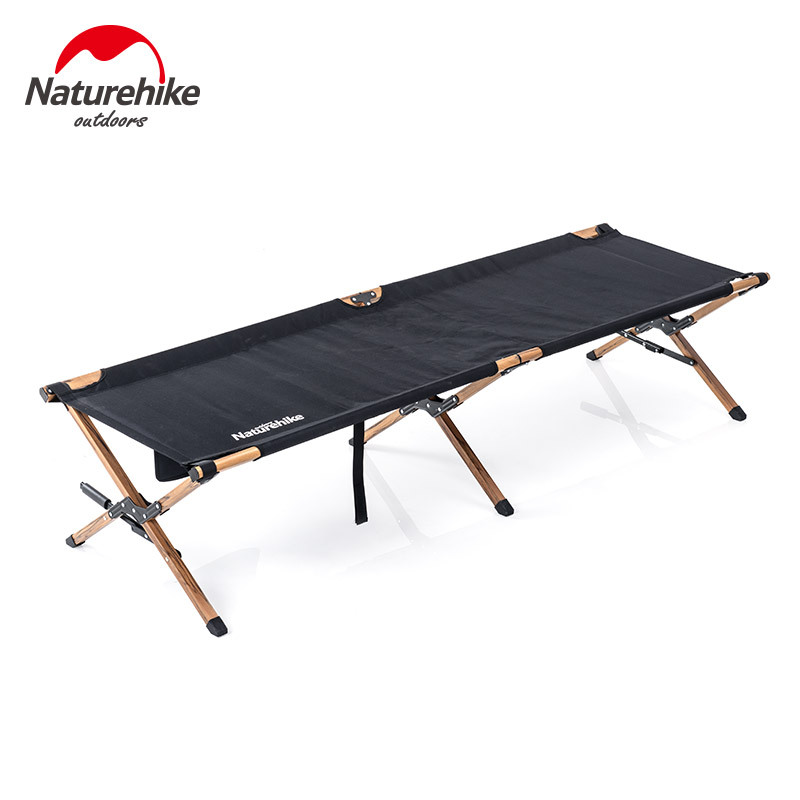 Naturehike 2019 New Military Bed Aluminum Wood Grain Alloy Folding Bed Outdoor Portable Bed Outdoor Travel Lunch Break Bed