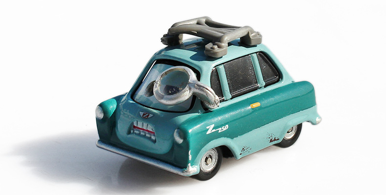 Pixar Cars 2 Professor Z With Glasses Metal Diecast Toy Car 1:55 miniaturas de carros antigos juguete metro toy cars kids toys pixar cars 2 sheriff diecast metal classic toy cars for kids children brio toy car 1 55 for children kids toys thomas and friend