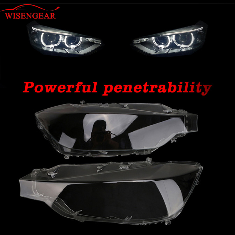 WISENGEAR Auto LED Headlight Headlamp Cover Transparent Lens Light Lamp Shell For BMW F31 F30 F35 3 Series 2012 2013 2014 2015 купить