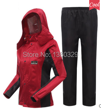 Hooded Raincoat Women Ladies Rain Jacket Hiking Pants impermeable mujer chubasquero Girls burbe rry capa para chuva FreeShipping waterproof raincoat kids children boys long cute poncho lluvia mujer girls raincoat impermeable backpack rain cover ddg48y