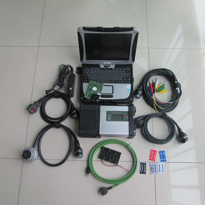 Sd conectar mb estrela c5 5 com cf19 laptop de 2019 o mais novo software 320 gb hdd ferramenta de diagnóstico para carros e caminhões prontos para uso