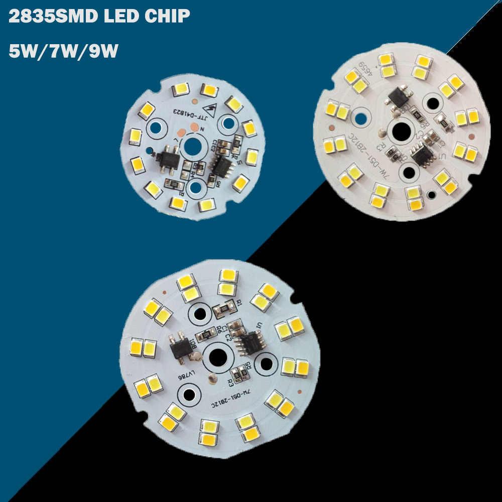 220 V układ LED COB źródło światła 5 W 7 W 9 W żarówka LED moduł matrycy sterownik IC downlight lampa reflektor ceramika chłodzenia