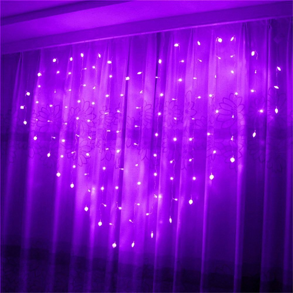 Purple Modern String Heart Shape Waterproof Love LED Curtain Light String Christmas LED Fairy Lights For Party Window Wedding стулья для салона led by heart 2015