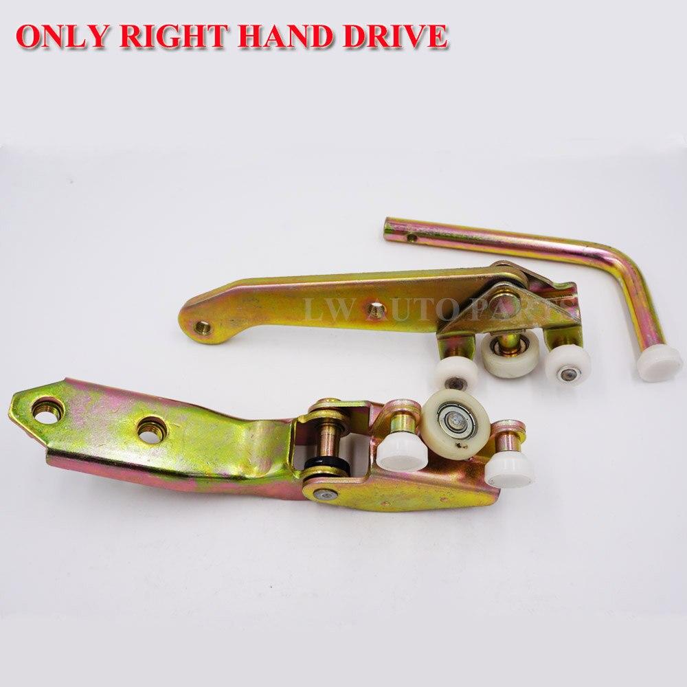 Left Sliding Door Bottom Middle Top Rollers set For VW T4 Transporter 1990 2003 701843405B 701843335A 701843436