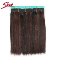 Sleek Colorful Hair Double Drawn Brazilian Remy Human Hair Bundle Silky Straight Hair Weave P FR1B 33 Color Human Hair Extension