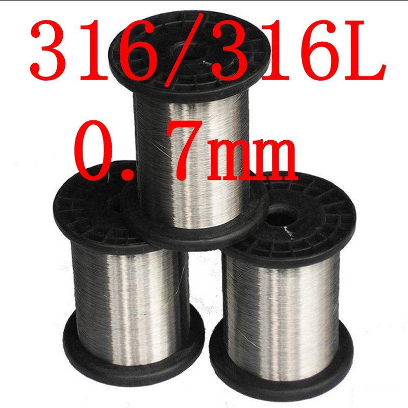0.7mm,316/316L Soft Stainless Steel  Wire,22 gauge around/0.7mm SS Seaworthy Thread 3mm 7 7 stainless steel 316 wire rope 7x7 strand core seaworthy marine grade