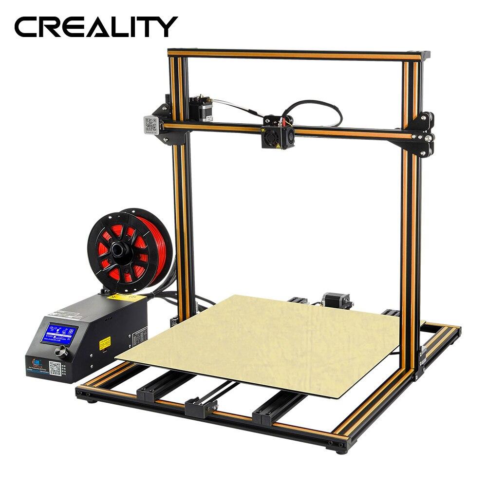 Plus size Criatividade 3D Impressora CR-10S S4 S5 Aberto Construir Com Dua Z Rod Filament Sensor/Detecção de Retomar o Poder off 3D Kit DIY de Impressora