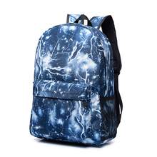 Sky Both Package Lightning First High Middle Student A Bag Male Trend School Wind Woman Travel Backpack befree mochila bagpack платье befree befree mp002xw0e0a9