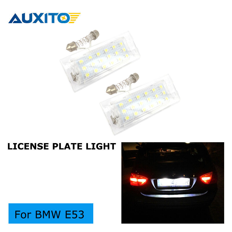 2PCS CANBUS NO ERROR CAR LED Light Number License Plate Lights lamps BULBS for E83 BMW E53 2000 ~ 2015 direct fit for kia sportage 11 15 led number license plate light lamps 18 smd high quality canbus no error car lights lamp page 8