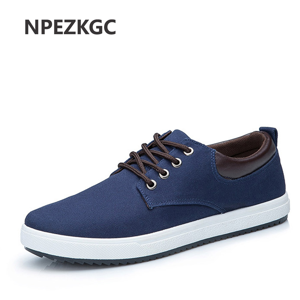 NPEZKGC Breathable Comfortable Men Shoes Canvas Men Walking Casual Fashion Lace Up Male shoes Flat Zapatillas Hombre Soft Shoes men casual shoes lace up mesh men outdoor comfortable shoes patchwork flat with breathable mountain shoes 259