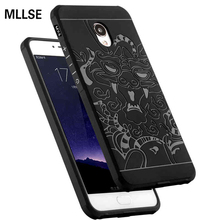 MLLSE For Meizu MX6 Case Drop Resistance Armor Anti Hit Silicone Cover For Meizu MX6 3D Curved Dragon Soft Matte Rubber Fundas