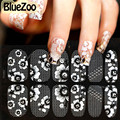 BlueZoo 1pc Classical Crystal Decoration Nail Art Tip Water Transfer Sticker 3D Lace Decal Full Wrap DIY 16 Designs For Choice