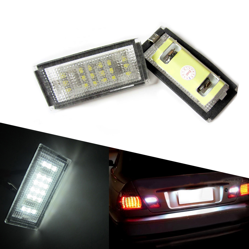 1Pair Car LED number License Plate Light 12V White SMD LED canbus lamp bulb Car Styling For BMW E46 2D E46 M3 98-03 accessories