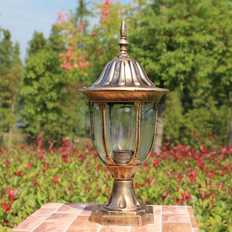 Retro fence wall headlights europe garden gatepost lamp outdoor courtyard residential wall mount light fixture