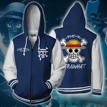 31ca2c4f832f Anime One Piece Hoodie Sweatshirts Trafalgar Law Cosplay Pirates Of Heart  Print Thin Hoodies Tops Outerwear