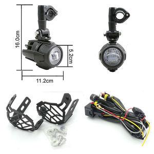 Image 5 - 2 sztuk 40W światło pomocnicze LED lampa 6000K Super jasne mgła światło drogowe zestawy LED żarówki DRL do motocykli BMW K1600 R1200G