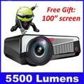 5500 lúmenes accesorios inteligente Android 4.4 tv lcd led proyector full hd 1920x1080 3d de cine en casa projetor vídeo proyector beamer
