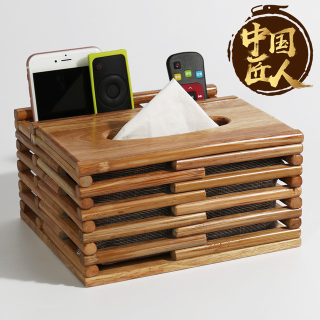 Tissue Box Living Room Remote Control Storage Coffee Table With Simple Creative Drawing Cartons