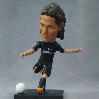 Soccerwe SoccerxStar Football Doll Paris Saint 9 Cavani Garage Kit Puppets for 2018 Season 12 cm Height Gift Figurine Blue Paint muñeco buffon