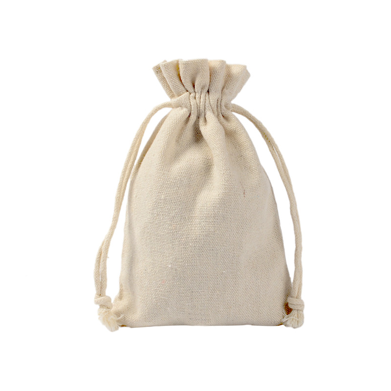 100pcs 10x15cm New Cotton Linen Drawstring Storage Bags Jewelry Packaging Pouches Wedding Christmas Candy Gift Bag  Party Favors