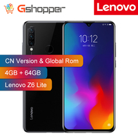 Customized Rom Lenovo Z6 Lite 4GB 64GB Snapdragon 710 Octa Core mobile Phone 16MP Triple Cams Full Screen 4050mAh Smartphone