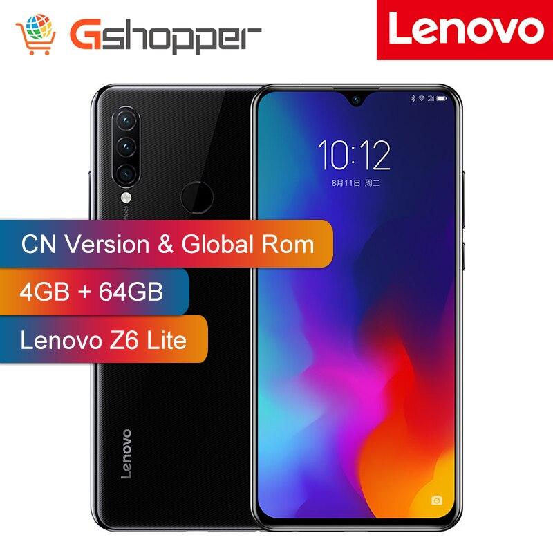 Rom personnalisée Lenovo Z6 Lite 4 GB 64 GB Snapdragon 710 Octa Core téléphone portable 16MP Triple cames plein écran 4050 mAh Smartphone
