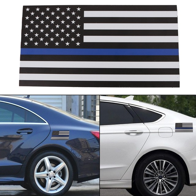 Thick X Magnetic Car US USA Flag Sticker Decals Blue American - Magnetic car decals